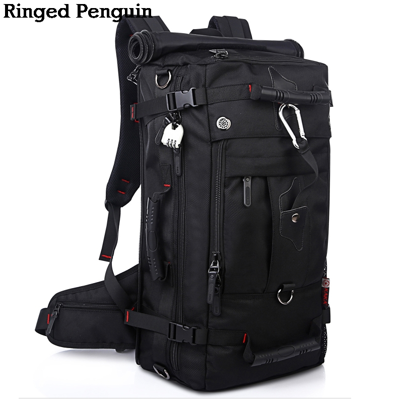 Men Backpack Travel Bag Large Capacity Versatile Utility Mountaineering Multifunctional Waterproof Backpack Luggage Bag large capacity men canvas backpack mochila laptop backpack mountaineering versatile bag travel luggage bag