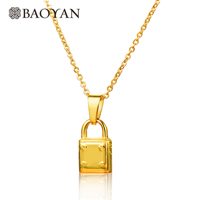 barter champagne lock heart cubic inlaid pendant hutt zirconia necklace gold product