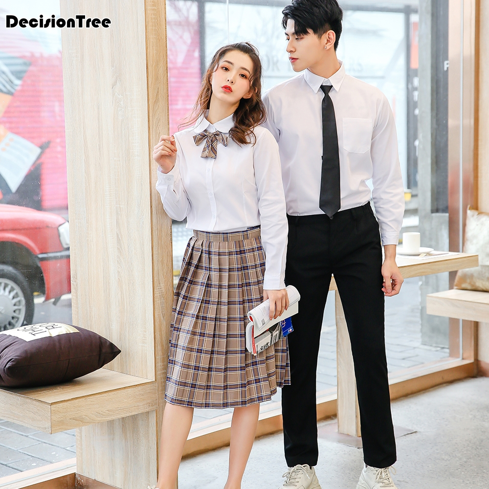 2019 <font><b>japanese</b></font> style student girls <font><b>school</b></font> <font><b>uniform</b></font> sailor shirt+pleated skirt set woman cosplay costumes <font><b>sexy</b></font> navy jk suit image