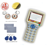 English ver 10 styles RFID Card Read Writer/ RFID Copier/Programmer copy encrypted to 0 Sector+30pcs Rewritable KeyFob