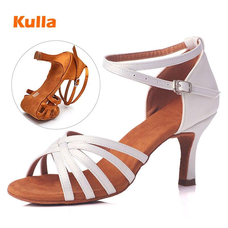 Mujer Profesionales Chicas Zapatos 5 Para Baile Blanco De