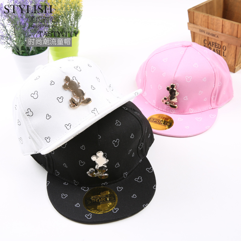 Lovely ! 2016 New Cartoon Pattern Fashion Snapback Caps Kids Hip Hop Cap For Boy/Girl Summer Hats Baseball Baby Cap For Children wholsale brand cap baseball cap fitted hat casual cap gorras 8 panel hip hop snapback hats wash cap for men women unisex