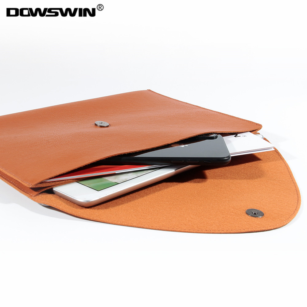 DOWSWIN for ipad 10.5 sleeve,pu leather waterproof bag for ipad pro 10.5 case can hang soft sleeve for ipad 10.5 for A1701 A1709 ...
