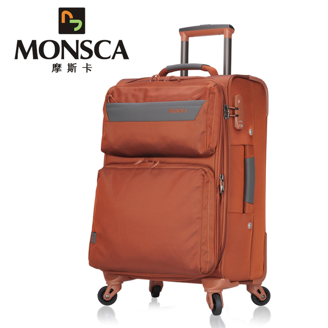 c336a23ac150 Free shipping Monsca quality waterproof nylon trolley luggage travel bag  universal wheels luggage suitcase check box20
