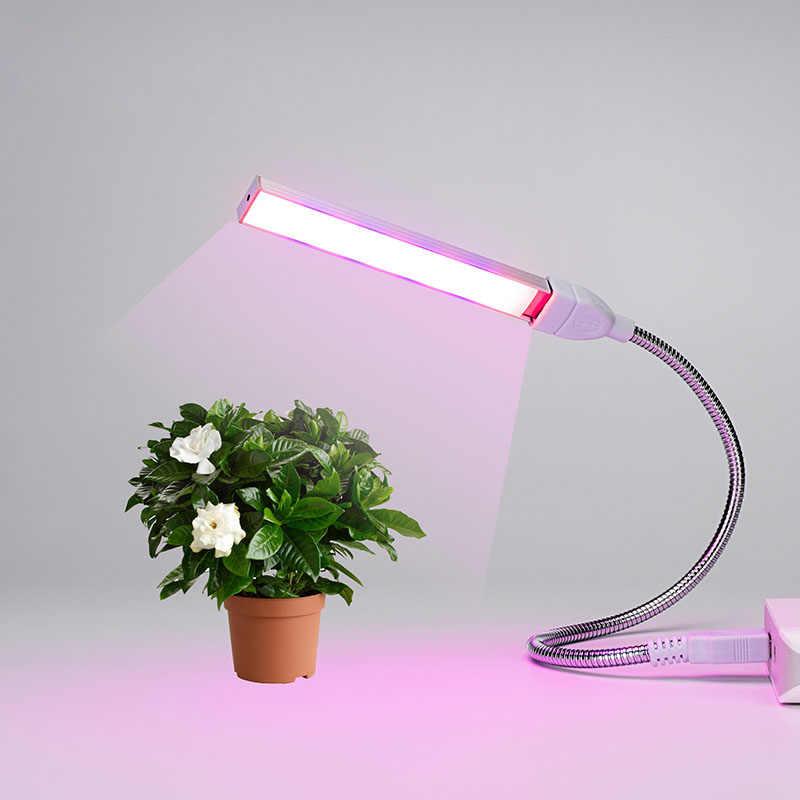 USB портативный светодиодный светильник для выращивания DC5V 3 Вт 5 Вт Фито лампа полный спектр Крытый Настольный теплица гидропоники цветок растение для выращивания