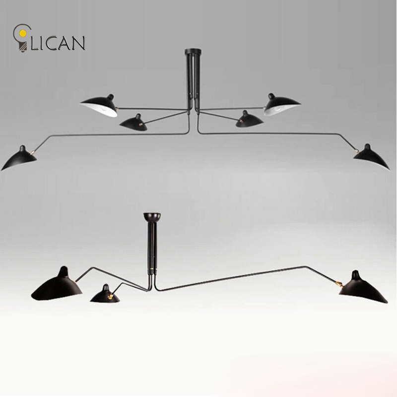 Serge Mouille loft Nordic Iron Ceiling light creative artistic personality Duckbill lampshade spider Ceiling lamp for
