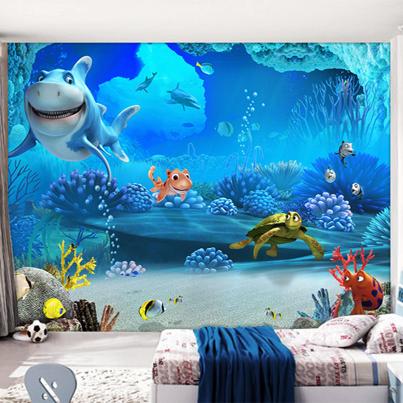 popular shark wall murals buy cheap shark wall murals lots great white shark wall mural large by brian j skerry at
