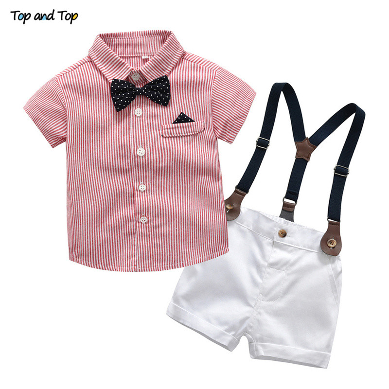 Baby Boy Gentleman Clothes Set Summer Suit For Toddler