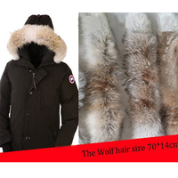 Real Natural Big Wolf Fur Scarf Real Collars Scarf Factory Direct Wholesale And Retail