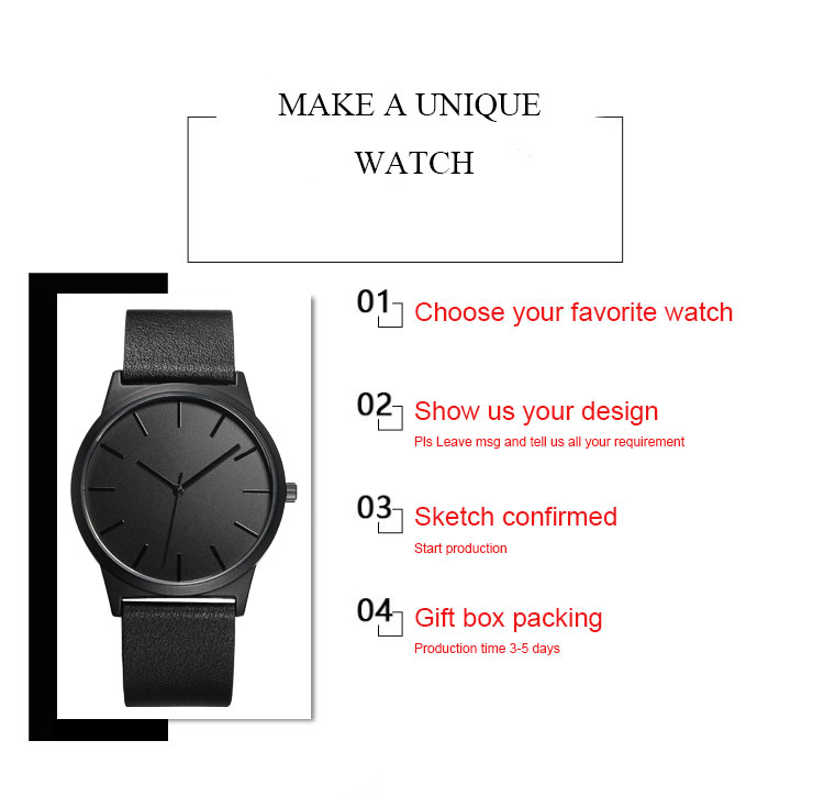 CL014 New Design Custom Dial Watches Japanese Quartz Water Resistant Arabic Numerals Islamic Customized Man Watch Brand Name