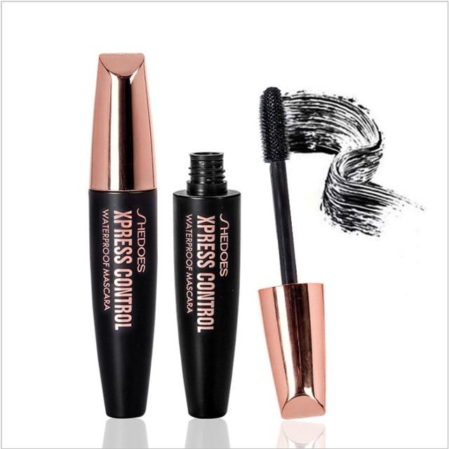 4D Silk Fiber Lash Mascara Waterproof Rimel 3d makeup Mascara For Eyelash Extension Black Thick Lengthening Eye Lashes Cosmetics 5