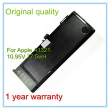 Original New Battery A1321 For  Pro 15″ A1286 MB985LL/A MB986LL/A 2009 2010 Version Free Shipping