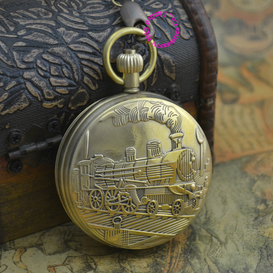good quality luxury retro classic men grandfather Antique Moon Phase enameled train brass mechanical movement Pocket Watch hour coupon for wholesale buyer price good quality new bronze retro vintage classic arabic number mechanical pocket watch with chain