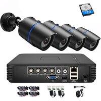 4CH 1080 P CCTV Камера Системы 720 P безопасности Камера Системы видеонаблюдения комплект 1 ТБ HDD 4 шт пуля уличная ahd камера комплект для видеонаблюд