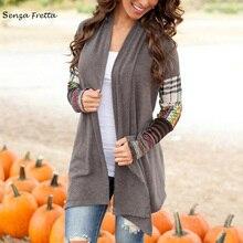 New Women's Long Sleeve Cardigan Loose Sweater Outwear Jacket Coat top tippet NS571