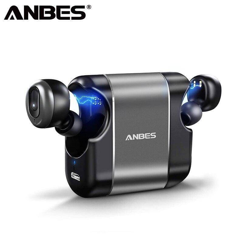 ANBES D41 Bluetooth V5 0 TWS Earphone True Wireless Stereo Earbud Waterproof Bluetooth Headset for Phone