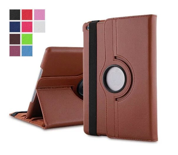 Coque Case for iPad Mini 4 360 Degree Rotating Leather Stand Case Cover for Apple iPad Mini 4 Fundas Protective Shell 10 Color