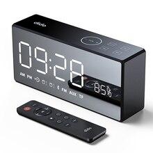 DiDo X9 Перезаряжаемые зеркало светодио дный Дисплей объем и бас Hi-Fi Беспроводной Bluetooth Динамик FM AUX будильник