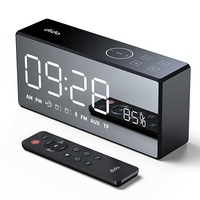 DiDo X9 Rechargeable Mirror LED Display Volume and Bass Hi Fi Wireless Bluetooth Speaker FM AUX Alarm Clock