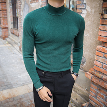 13 Solid Color Men Winter Sweater Turtle Neck Jersey Navidad Hombre Knitted Sweater Maglione Natale Slim Fit Under Male Sweater