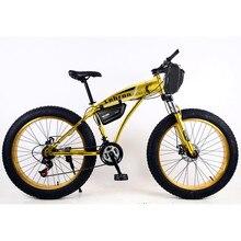 """Электрический велосипед 26x4,"""" 7-speed комплект для велосипеда 48 V 15 Ah литиевая батарея электрический горный велосипед 1000 Вт Электрический snowmo"""