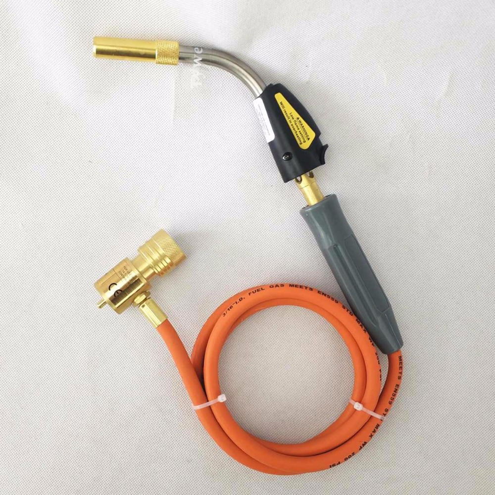 Quenching Gas CE Welding 5m Soldering  R HVAC Torch Torch MAPP Hand Brazing Self Ignition BBQ Torch 1 Hose 5ft Gas Burner Burner