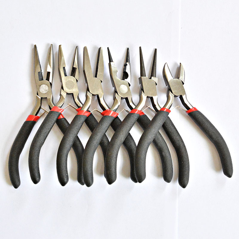 Multi-type Black Handle Anti-slip Splicing And Fixing Jewelry Pliers Tools & Equipment Kit For DIY Jewellery Accessory Design