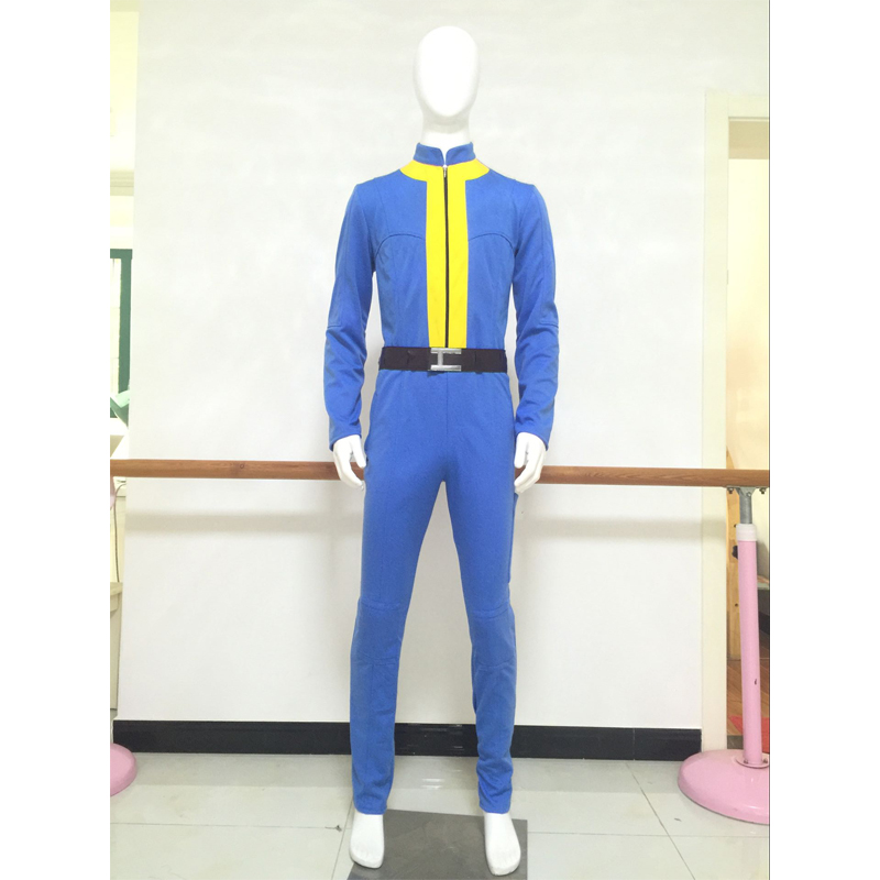Game Fallout 4 Vault Boy 111 Cosplay Costume Jumpsuit Men's Halloween Carnival Superhero Party Costume Custom