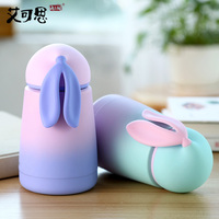 300ML Cute Rabbit Thermos Bottle Coffee Cup Thermo Mug For Girl Vacuum Flask Glassware Thermal Insulation