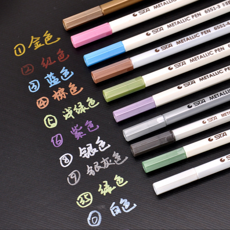 10 Colors/set DIY Acrylic Marker Waterproof Permanent Painter Pen Highlighter Metallic Color Pen for DIY Mug Design Card Making10 Colors/set DIY Acrylic Marker Waterproof Permanent Painter Pen Highlighter Metallic Color Pen for DIY Mug Design Card Making