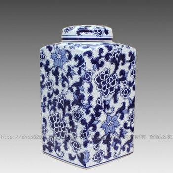 Jingdezhen ceramic export foreign trade the original list Blue and white storage tank ceramic POTS modern fashion vase