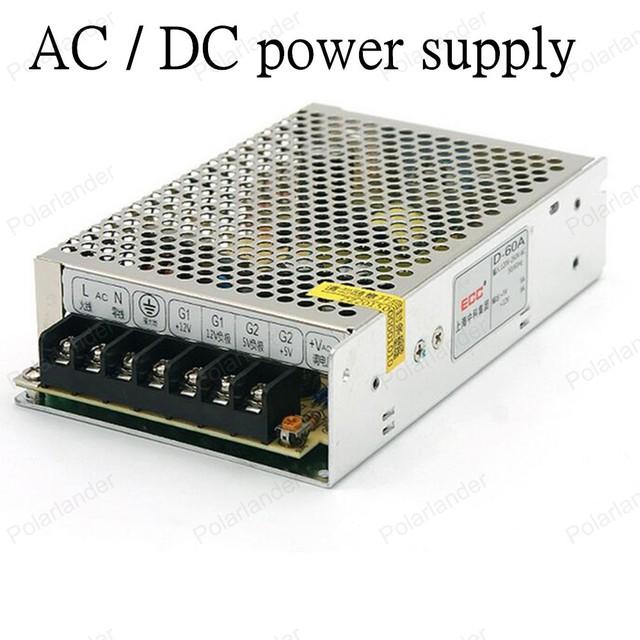 Tira LLEVADA poder de Conducción de alimentación AC/DC 12 V 50 W de salida dual de la fuente de alimentación de Alta calidad de Aislamiento de aluminio Transformador de la iluminación