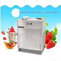 NB100S 48cm Single Round Pan Fried Ice Cream Roll Machine,Commercial Fried milk yogurt machine, ice cream maker