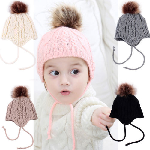 dff18d275db Christmas Lovely Baby Girl Hat Toddler Kid Crochet Earflap Beanie Winter  Newborn Soft Cap Babes Hats-in Hats   Caps from Mother   Kids on  Aliexpress.com ...