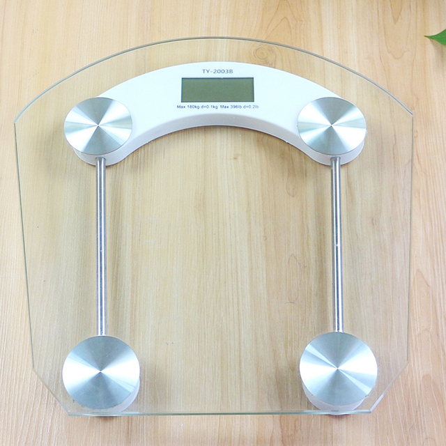 . Electronic LCD Display Scale Transparent Digital Scale 180KG Weighing Scale  Glass Electronic Body Weight Scales in Weighing Scales from Tools on