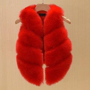 Image 4 - 2017 Fashion Childrens Clothing Faux Fox Fur Vest European Style Toddler Baby Girls Waistcoat Winter Coat TZ135
