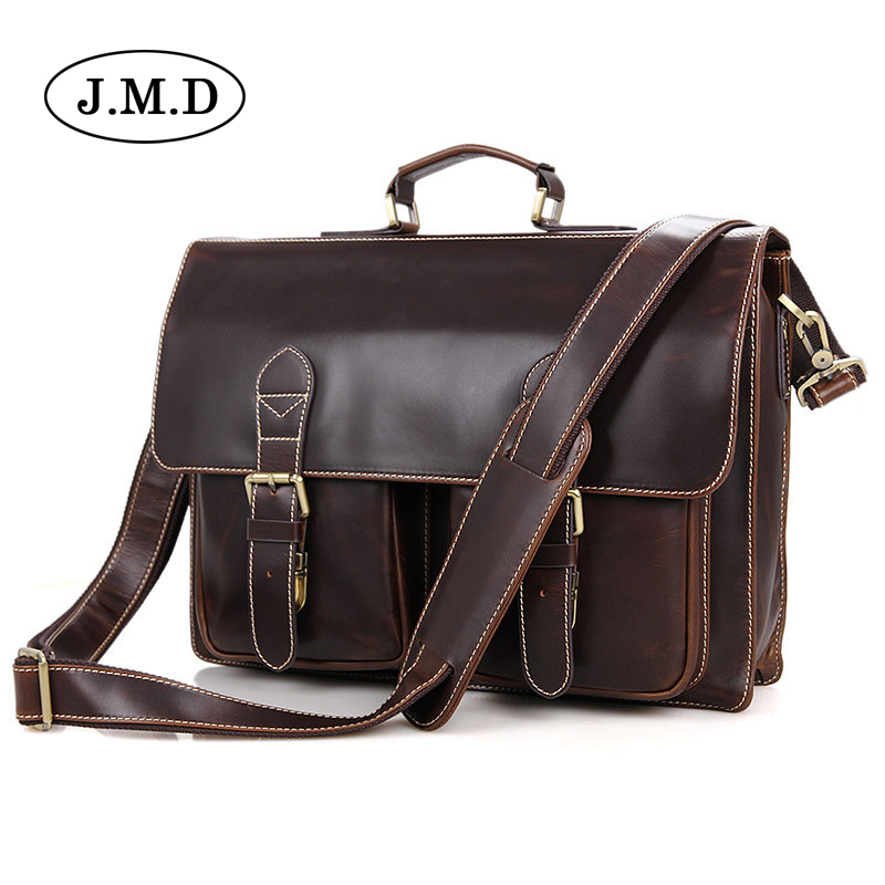 High Quality Genuine Leather Men Messenger Bags Briefcase  Laptop Business Travel handbags for male 7105