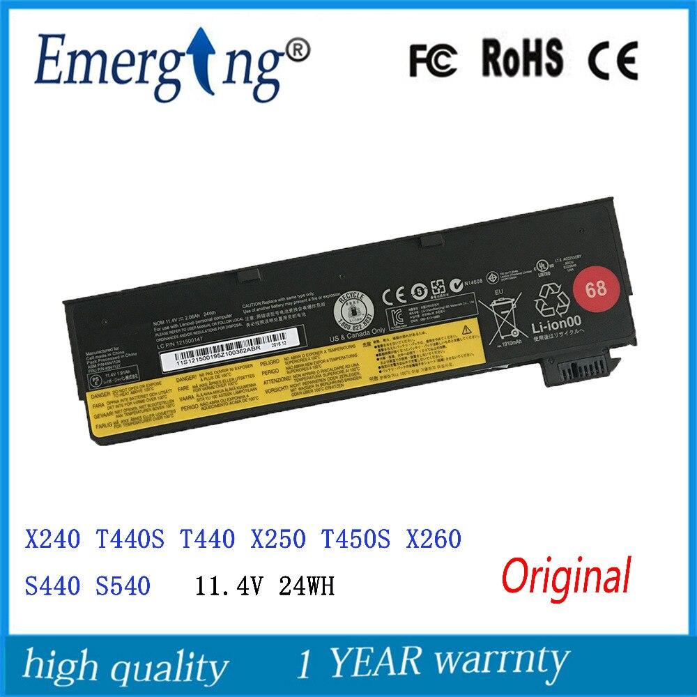 11,4 В 24Wh 3 клетки новый оригинальный ноутбук Батарея для lenovo ThinkPad T440 T440S <font><b>X240</b></font> X240S S440 S540 X250 45N1132 45N1124 45N1130