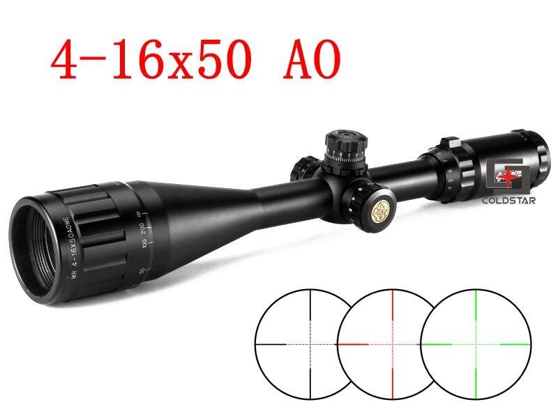 Waterproof Fogproof 4 16X50 AO IR GL Red Greed Iluminator Airsoft Air Rifles Guns Riflescopes Hunting Optical Sight Scopes