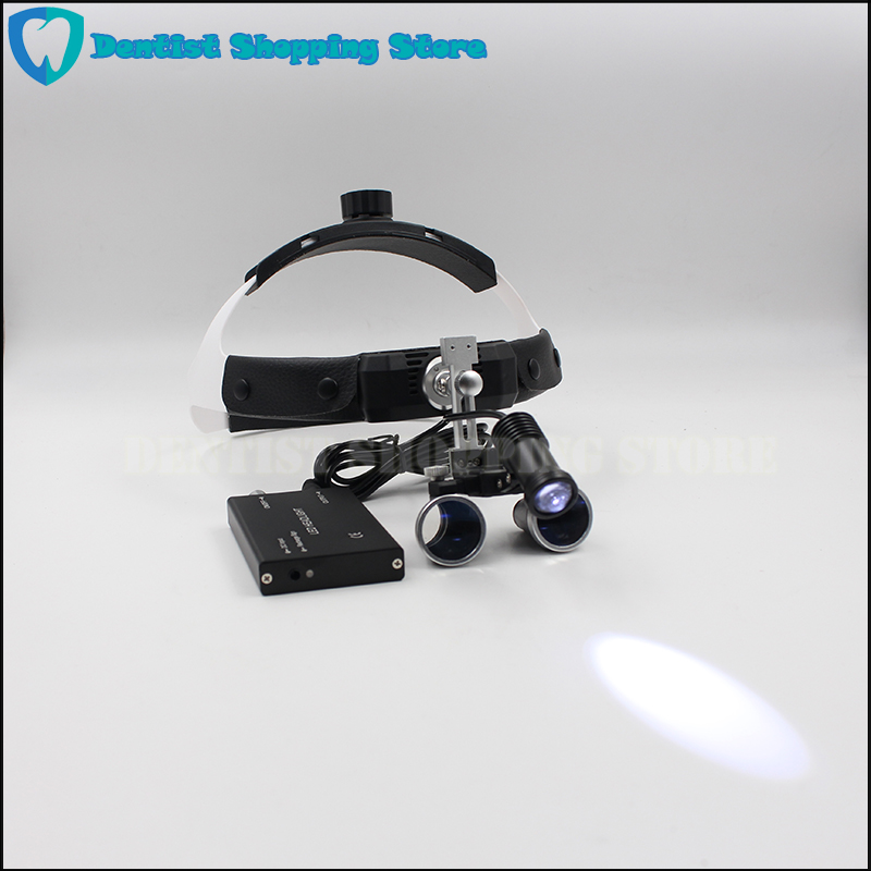Dentist Surgical Medical Binocular Dental Loupes with LED Head Light Lamp With Headband Type-in Teeth Whitening from Beauty & Health    1