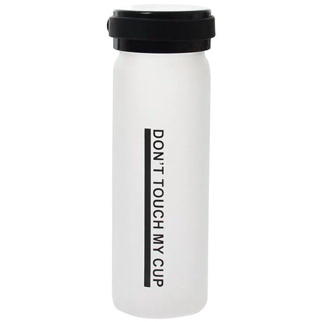 Portable Creative Letter Glass Water Bottle 4