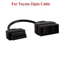 Cho Toyota 22Pin để OBDII 16Pin Nữ Kết Nối Bộ Chuyển Đổi Cáp DLC Dẫn cho Toyota 17pin OBD Cáp