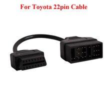 Для Toyota 22Pin к OBDII 16-контактный гнездовой разъем адаптер кабель DLC для Toyota 17pin OBD кабель