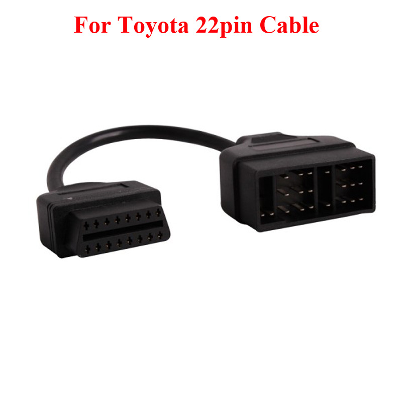 For <font><b>Toyota</b></font> <font><b>22Pin</b></font> to OBDII 16Pin Female Connector Adapter Cable DLC Lead for <font><b>Toyota</b></font> 17pin OBD Cable image
