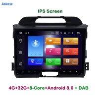 Aoluoya IPS 4G RAM 32G ROM Octa Core Android 8.0 2 Din CAR DVD Player For KIA Sportage 2010 2014 Radio GPS navigation multimedia