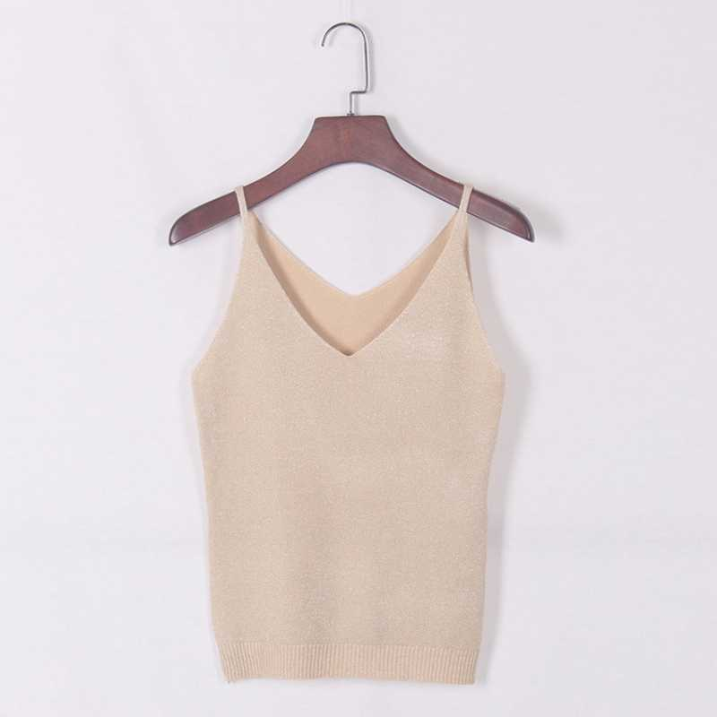 Nieuwste Fashion V-hals Sexy Strappy Mouwloos Vest Vrouwen Tank Casual Tops T-shirt