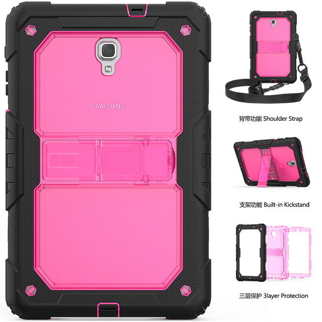 Case For Samsung Galaxy Tab A A2 10.5 2018 T590 T595 Heavy Duty Shockproof Kids Stand Case Cover SM T590 SM T595 Shoulder Strap