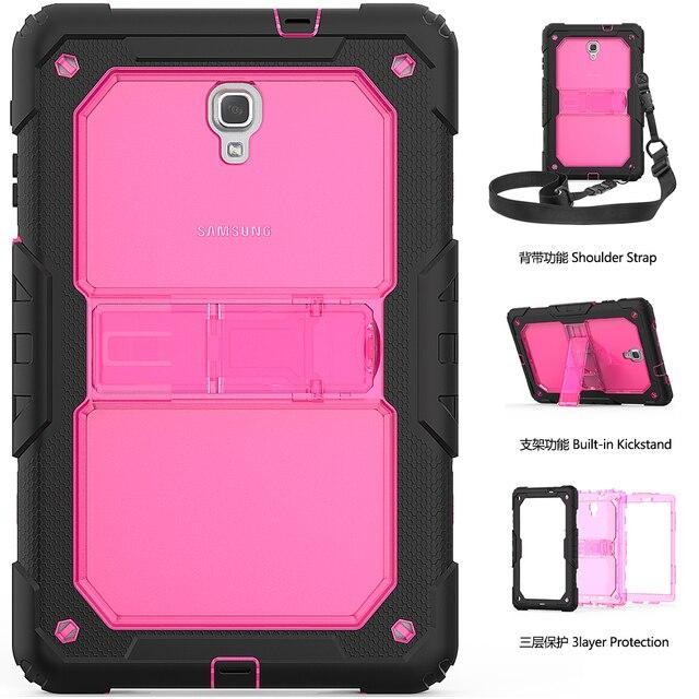 Ốp Lưng Dành Cho Samsung Galaxy Tab A A2 10.5 2018 T590 T595 Dày Chống Sốc Trẻ Em Đứng Bao SM T590 SM T595 dây Đeo Vai