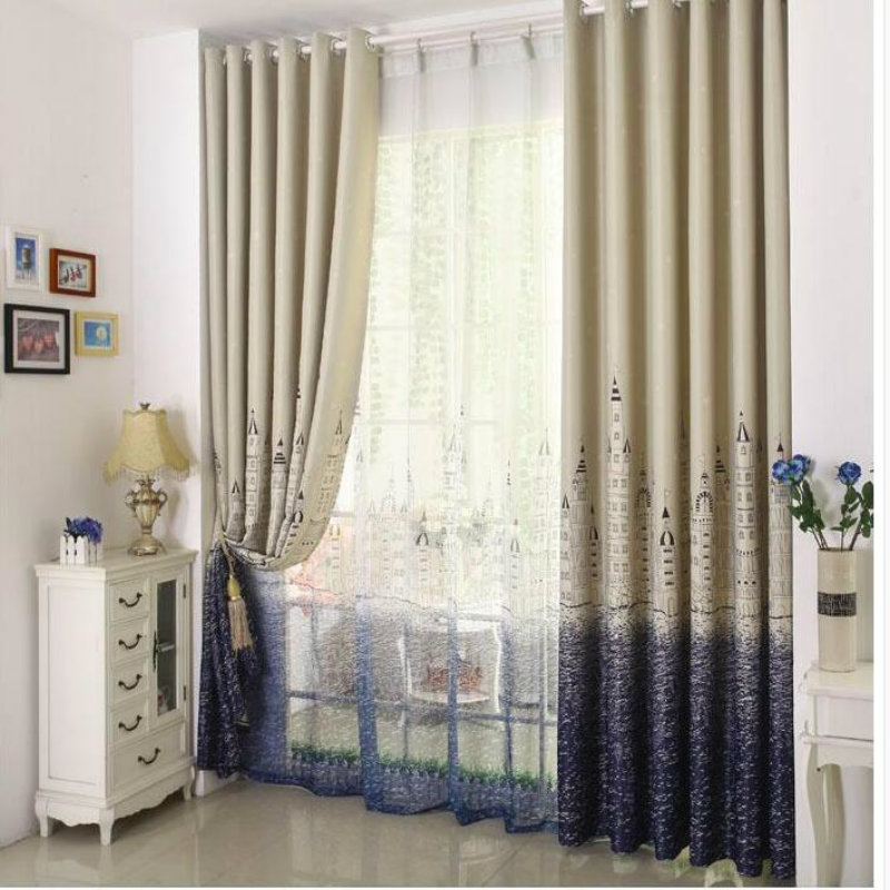 American   style country style luxury printing curtains living room bedroom  curtains gauze curtain geometry castle. Popular Country Print Curtains Buy Cheap Country Print Curtains