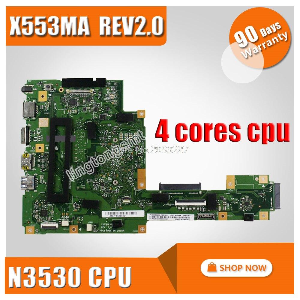 X553MA Scheda Madre N3530 N3540 Per ASUS A553M D553M F553M K553M X503M scheda madre Del Computer Portatile X553MA mainboard X553MA scheda madreX553MA Scheda Madre N3530 N3540 Per ASUS A553M D553M F553M K553M X503M scheda madre Del Computer Portatile X553MA mainboard X553MA scheda madre
